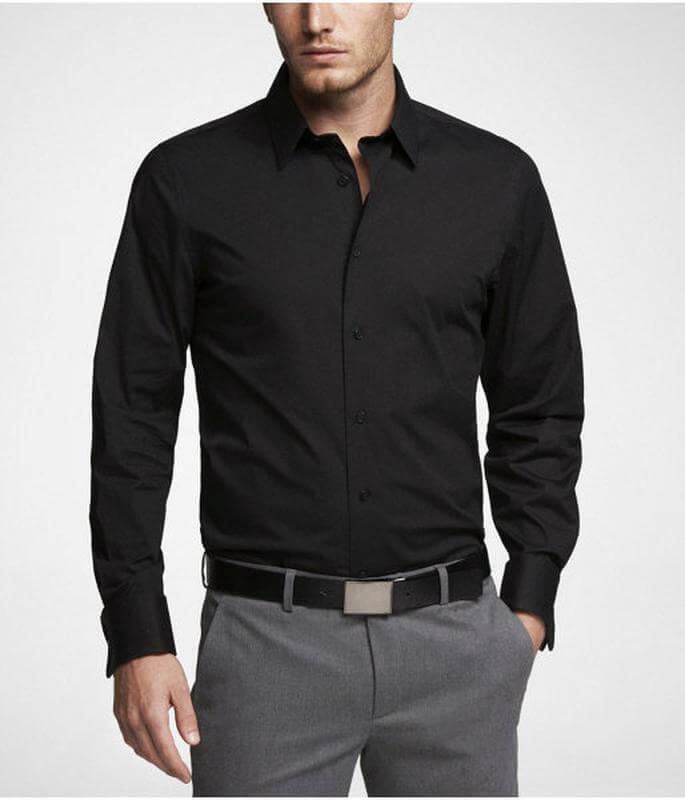 Чёрная классическая сорочка