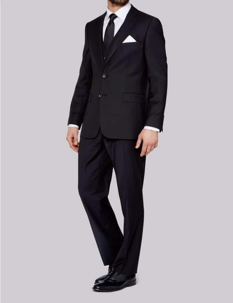 Аренда черного костюма «Regular fit»