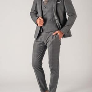 Аренда серого костюм-тройки «Toni Lazano»