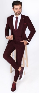 Аренда бордового костюм-тройки «BELFOR»