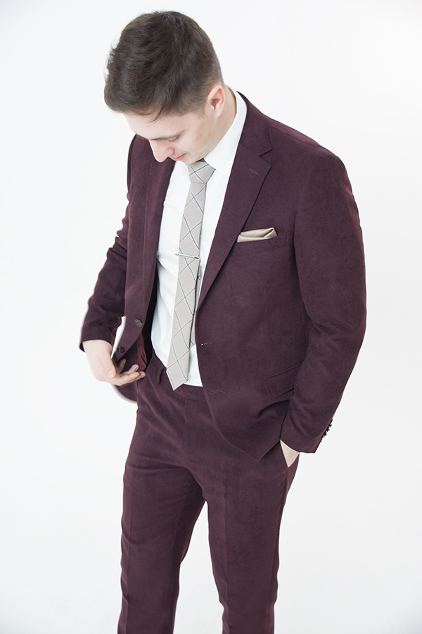 Бордовый костюм «Belfor»
