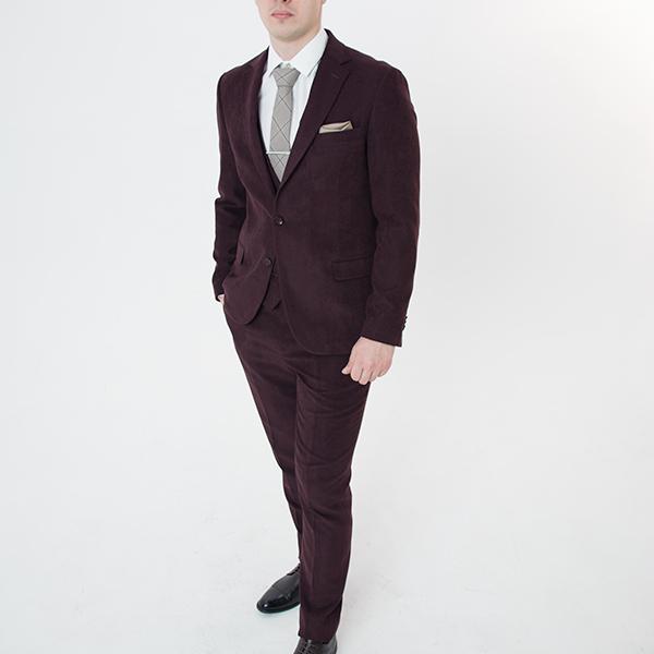 Бордовый костюм-тройка «Belfor»