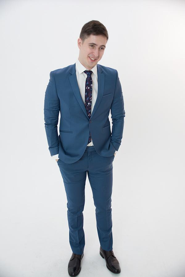 Синий костюм «Slim»