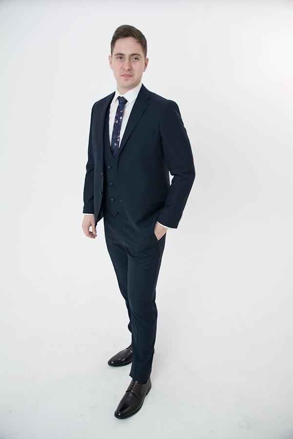 Синий костюм-тройка «Belfor»
